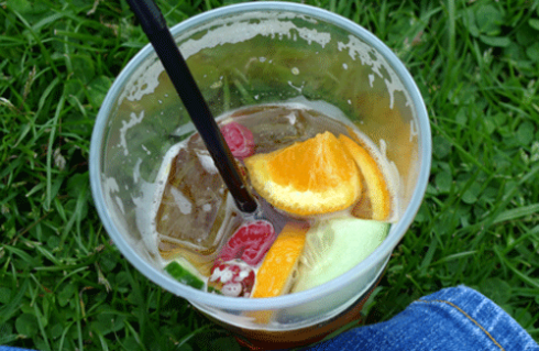 Pimms taste of sunshine even on an overcast day
