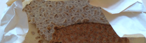 Crunchy and tasty artisan crispbread