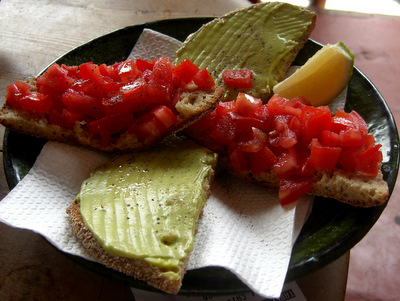 Vegetarian Sandwich at Cafe des Epices