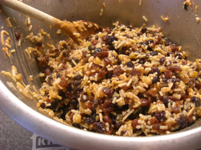 Stirring the mincemeat