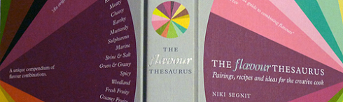 The sides and back of Niki Segnit's The Flavour Thesaurus